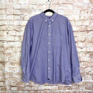 Untuckit Purple Blue Check ButtonDown Size XXL